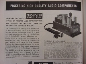 pickering 230H preamp. txsound